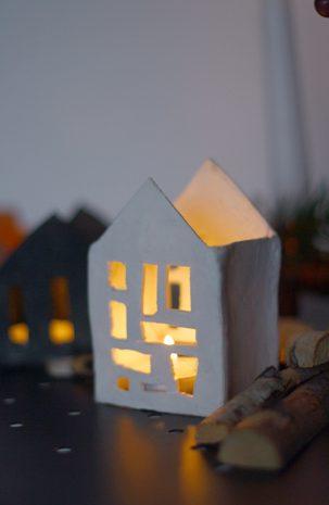 DIY: Selbstgemachte Lichthäuser