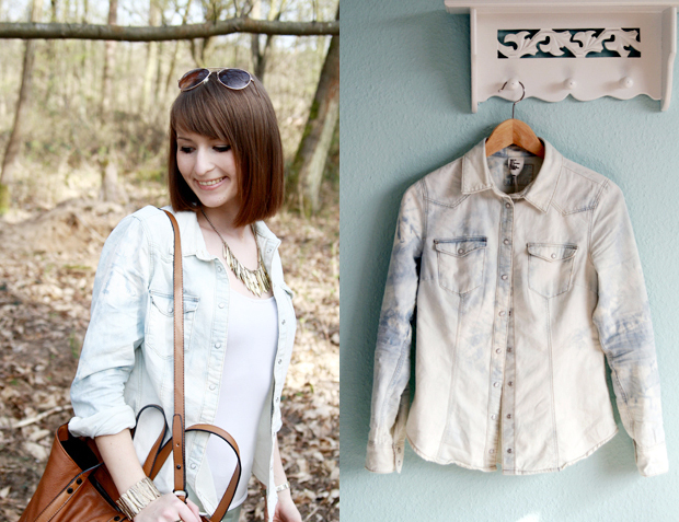 DIY: Bleached Denim Shirt