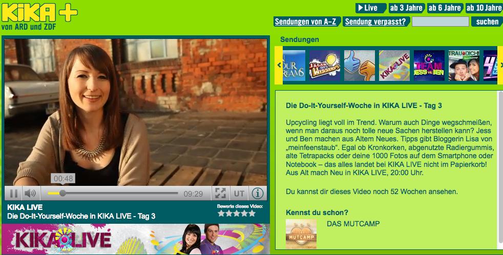 {Watch online} Bei KiKA LIVE mit 4 Upcycling-Ideen | mein ...