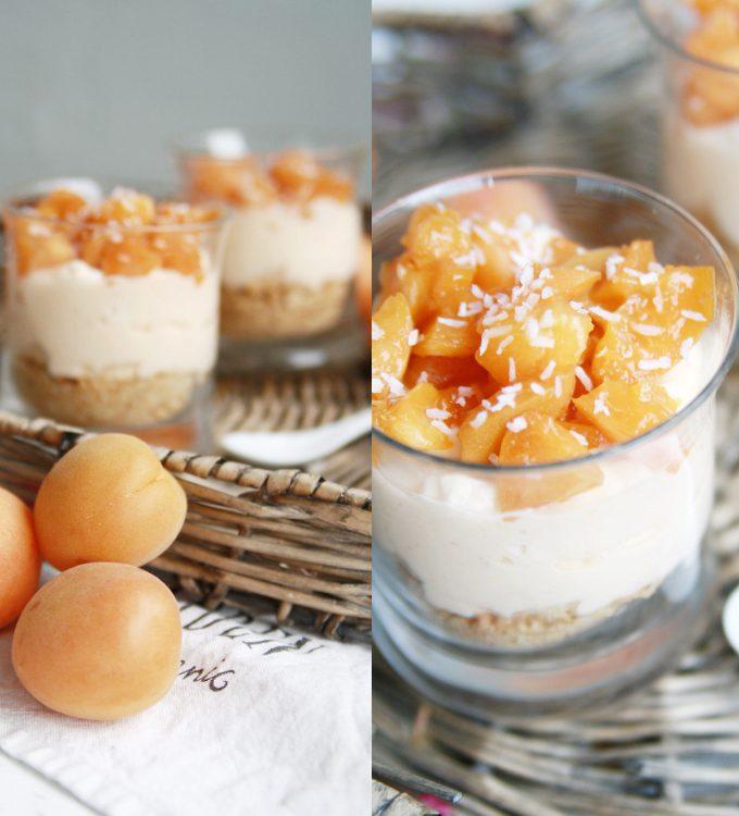 Aprikosen-Cheesecake im Glas
