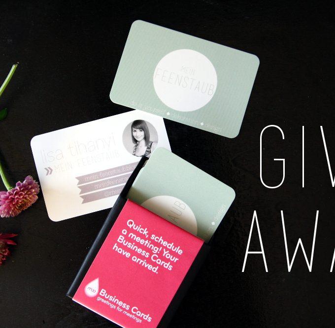 Was muss auf eine Visitenkarte? + MOO-Giveaway