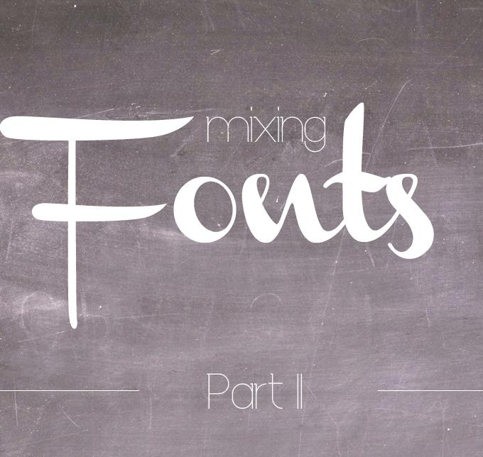 {Typography & free fonts} Schriften kombinieren – Part II