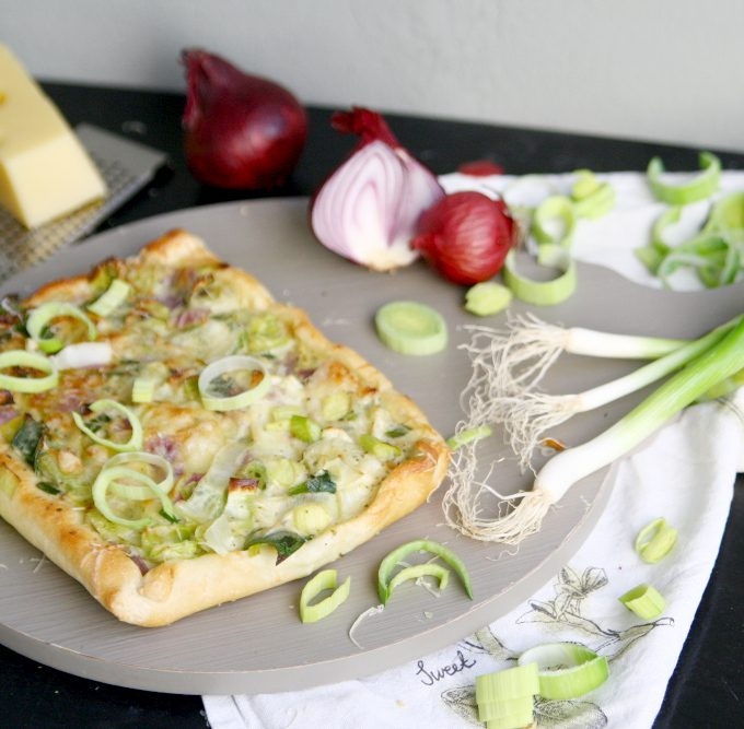 {Let's cook together} Vegetarische Lauch-Pizza