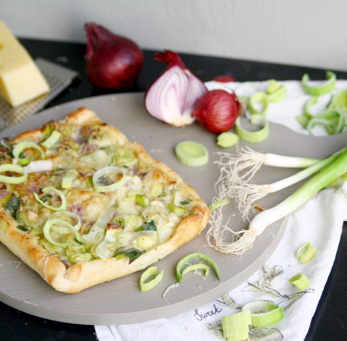 {Let's cook together} Vegetarische Lauch-Pizza