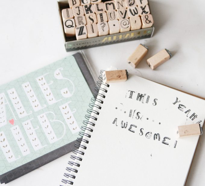 {Typography} Use Stamps! + Giveaway