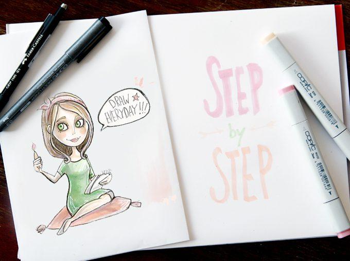 Wie ich zeichne {Step by Step}
