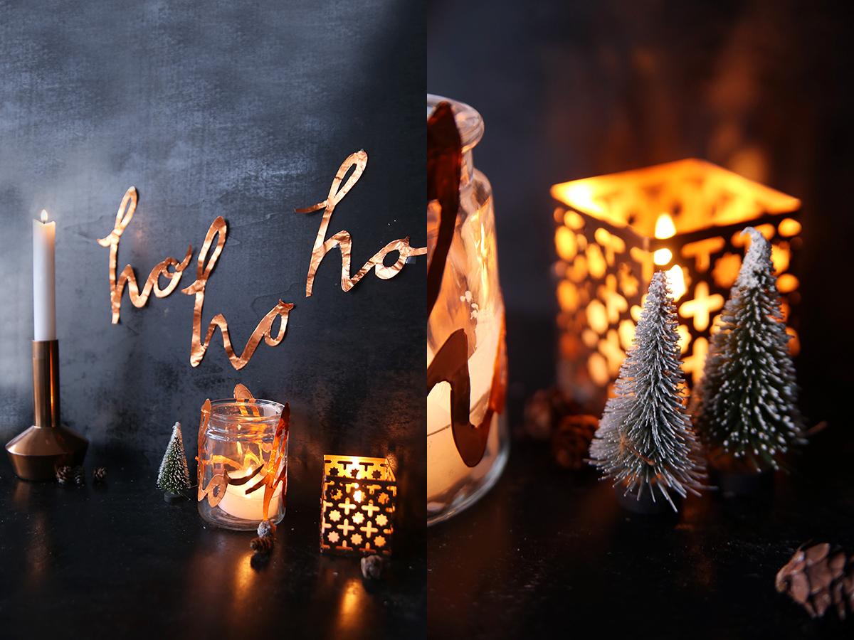 diy x mas schriftzug aus kupfer an der wand und als windlicht mein feenstaub. Black Bedroom Furniture Sets. Home Design Ideas