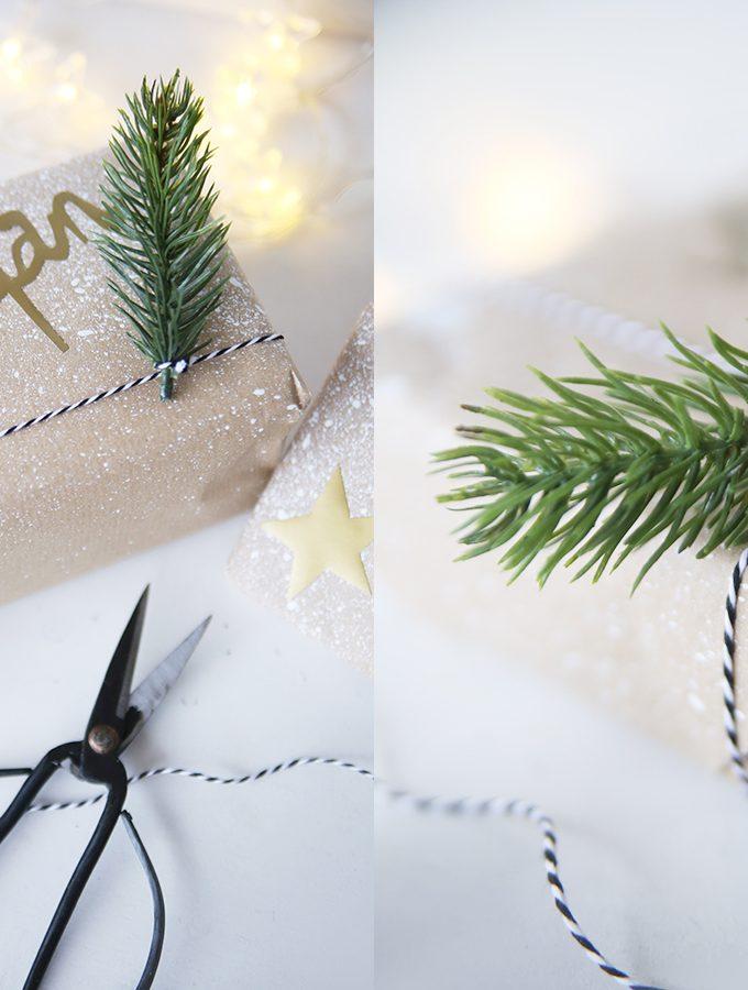 Geschenkpapier selbstgemacht für Last-Minute-Verpacker