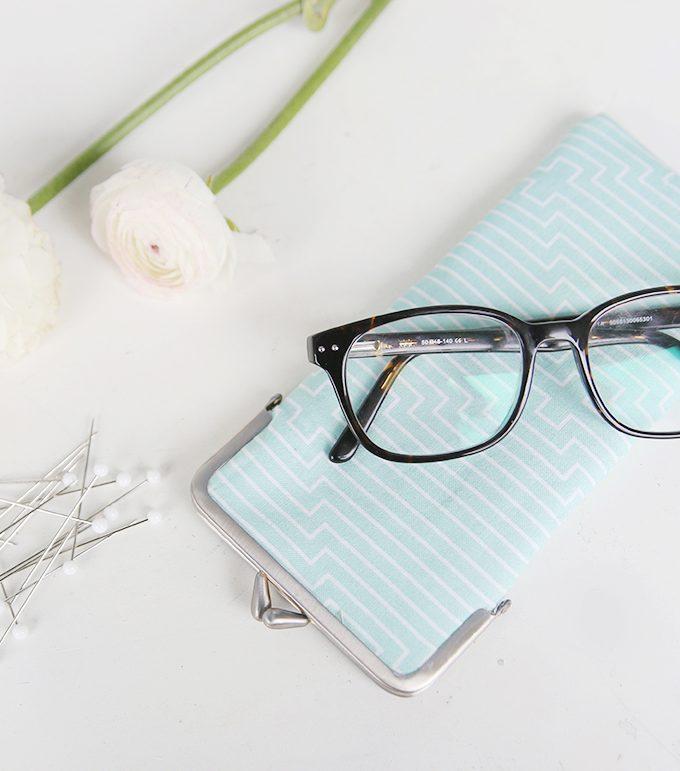{DIY} Genähtes Brillen- oder Stifte-Etui mit Clip-Verschluss