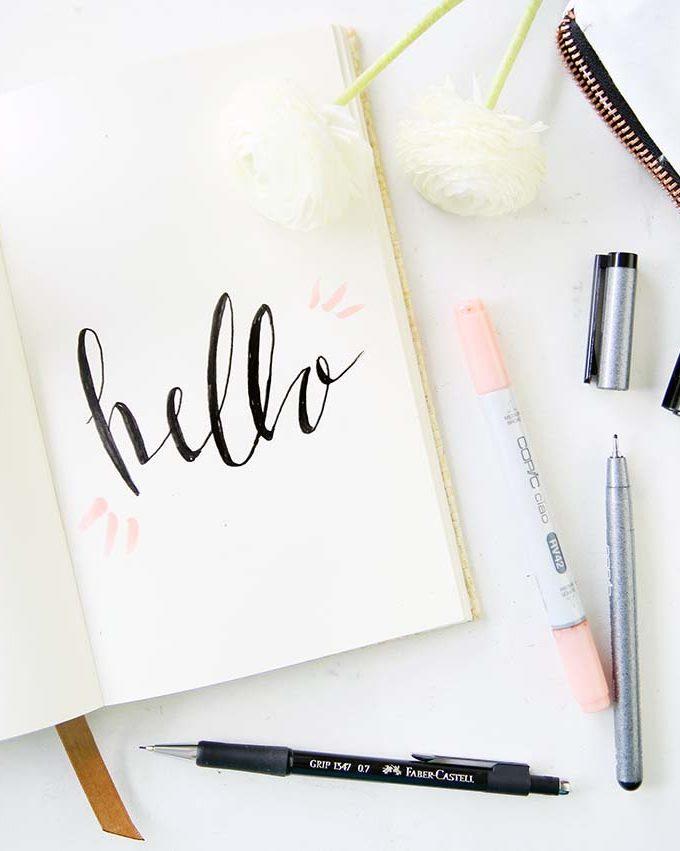 {Handlettering} Faux Calligraphy in 3 easypeasy Schritten