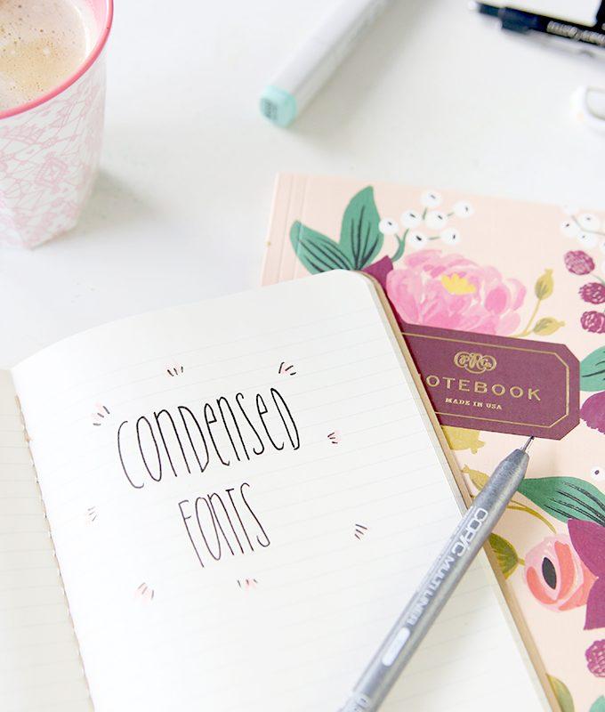 {Handlettering} Condensed-Schriften selbst gestalten