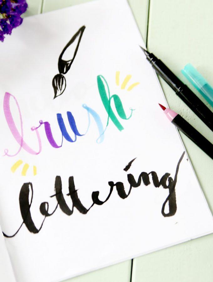 Brush Lettering für Anfänger und Giveaway