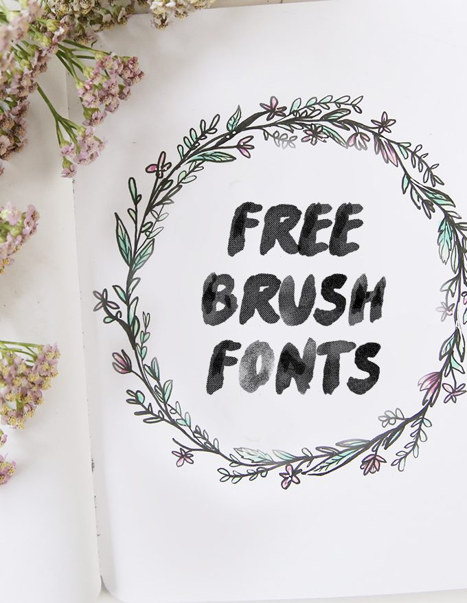 My favorite free Brush Fonts