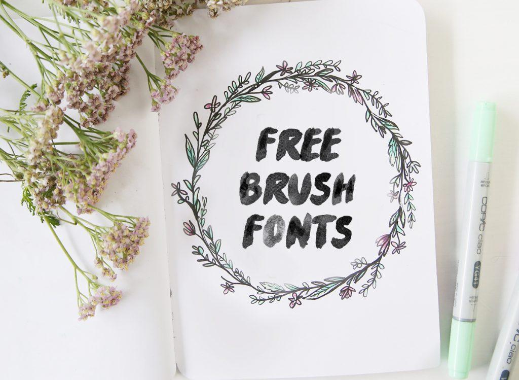 My Favorite Free Brush Fonts Mein Feenstaub