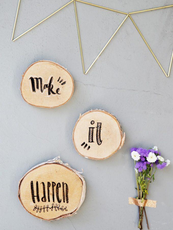 {DIY} Lettering auf Holz