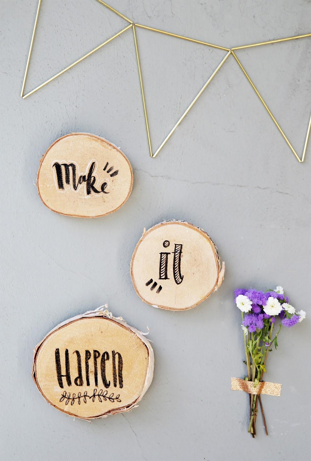 diy lettering auf holz mein feenstaub. Black Bedroom Furniture Sets. Home Design Ideas
