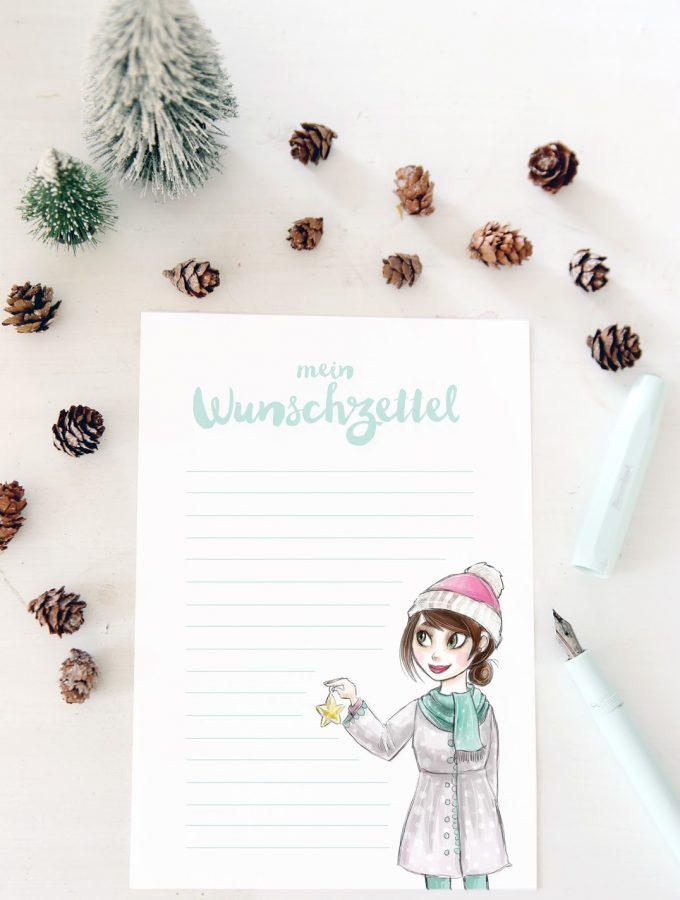 {Printable für euch} Weihnachtswunschzettel