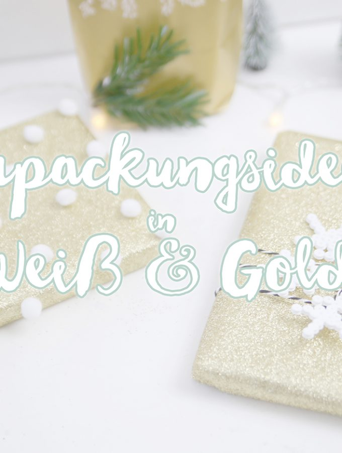 {Blogging under the Mistletoe #16} Verpacken in weiß & gold