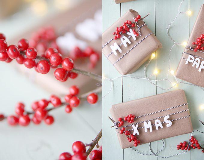 {DIY} Weihnachtspäckchen beschriften mit Fimo
