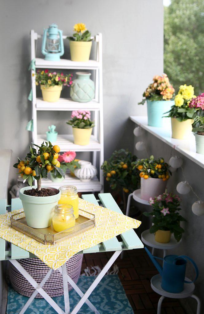 diy citronella kerzen balkon in mint und gelb mein feenstaub. Black Bedroom Furniture Sets. Home Design Ideas