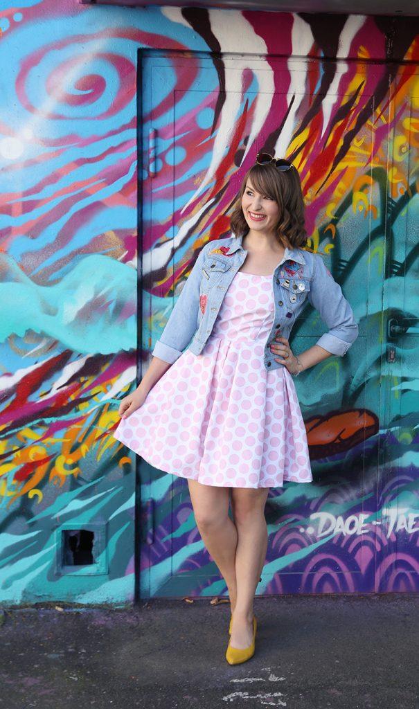 DIY your Closet #9} Rosa Polka-Dot-Kleid | mein feenstaub