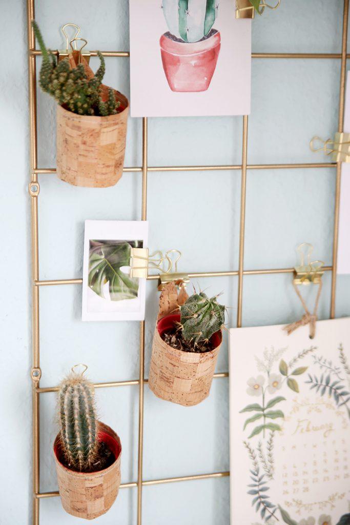 Pflanztöpfe zum Aufhängen aus Korkstoff