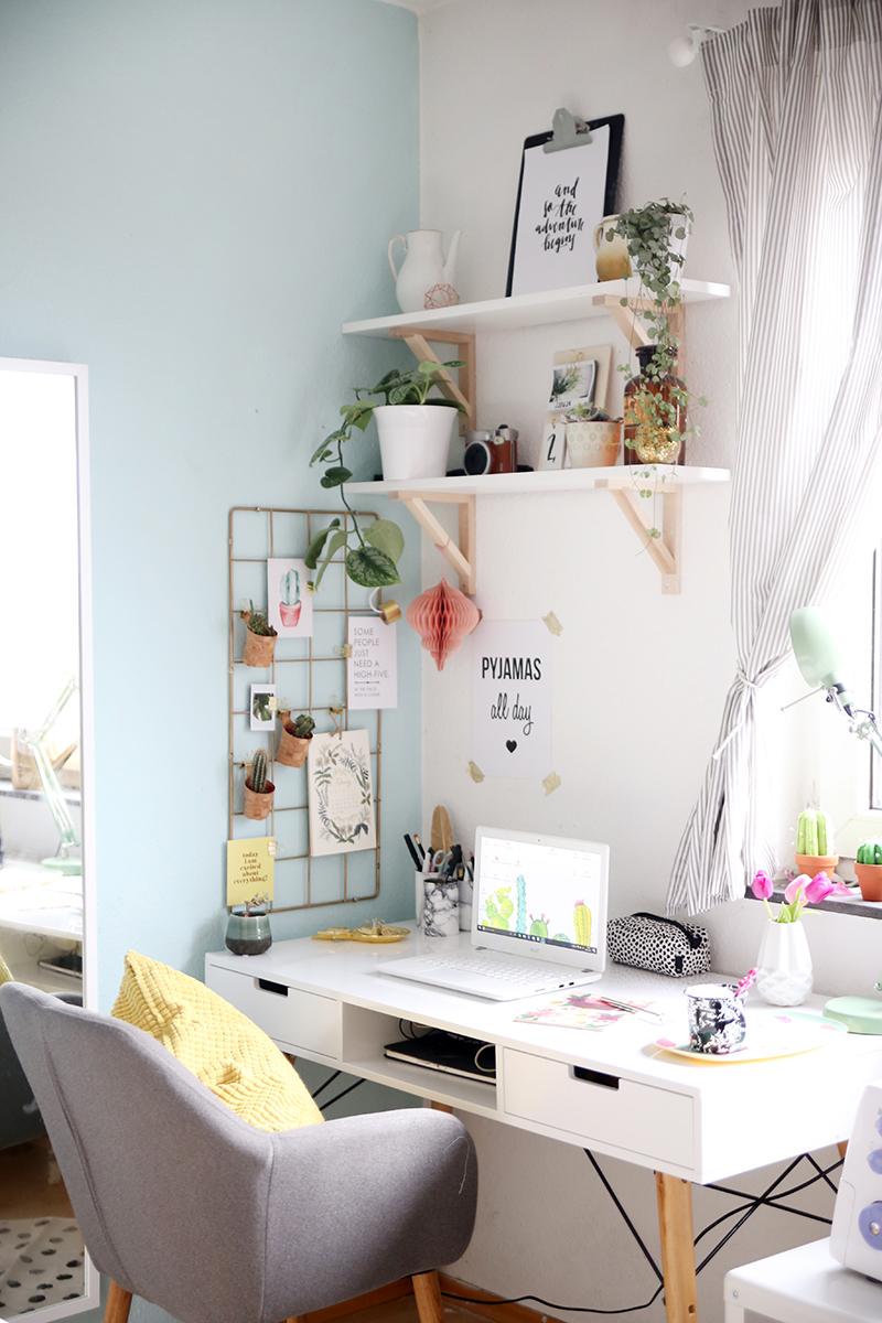 Deko mein neues home office mein feenstaub - Zimmergestaltung ideen ...