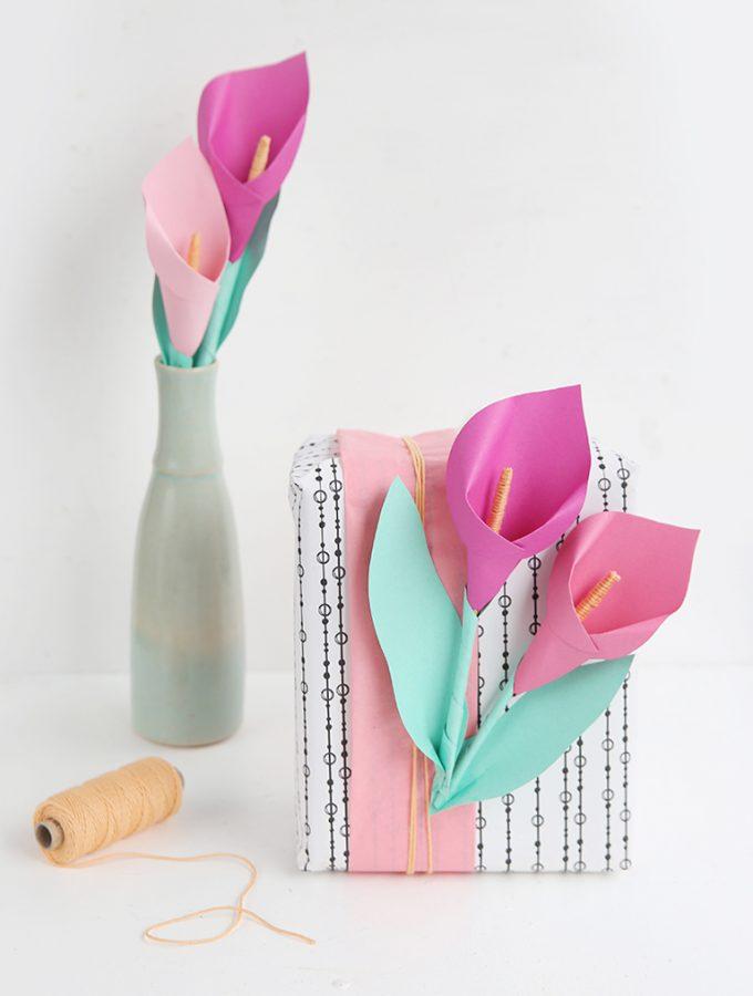 {DIY} Calla Blumen aus Papier – aus meinem neuen Buch!