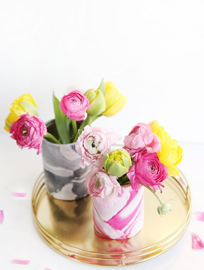 Kreative DIY-Idee zum Selbermachen: DIY-Vasen, Upcycling aus Dosen und Fimo