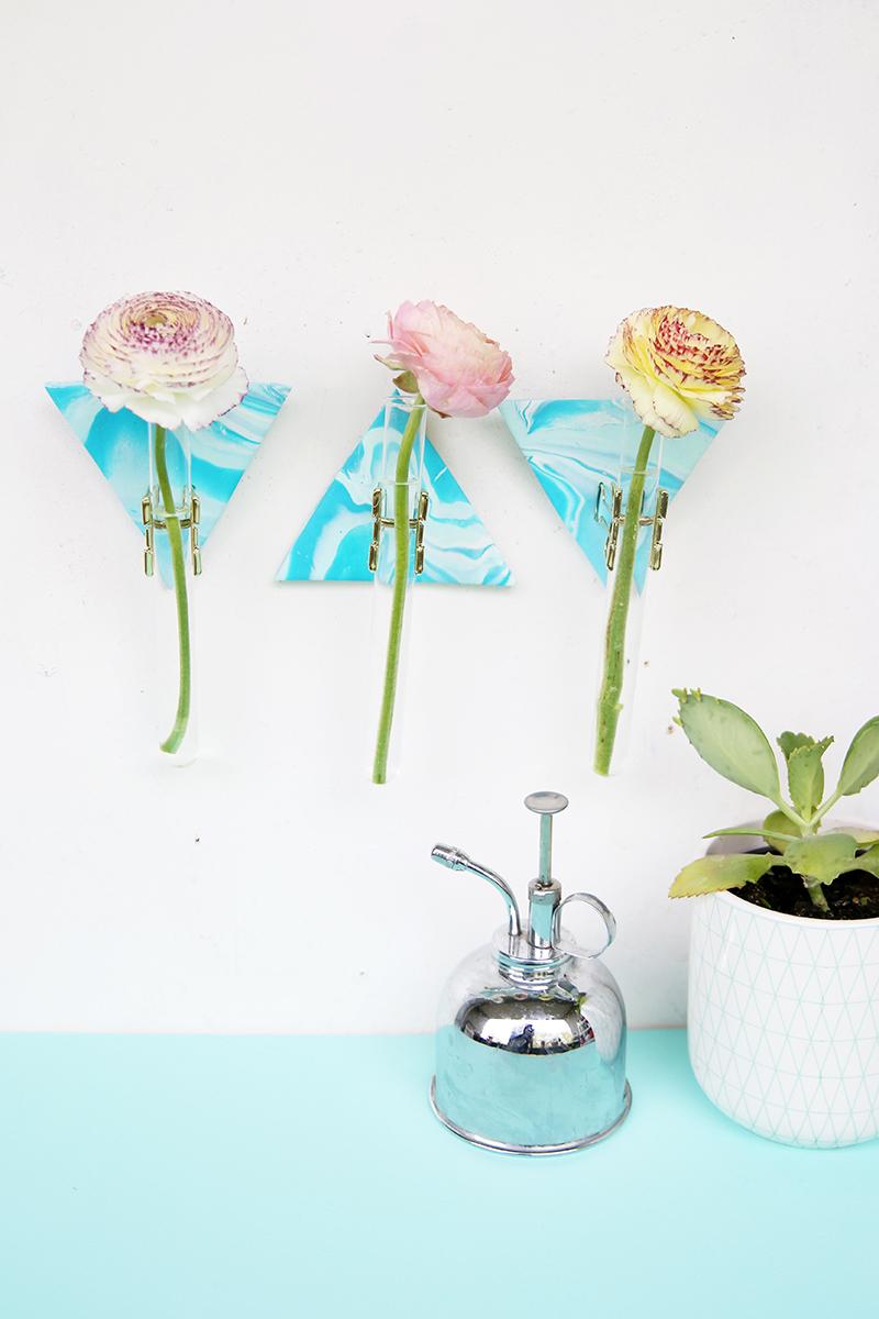 Kreative DIY Idee: Fimo Vasenhalter selbstgemacht