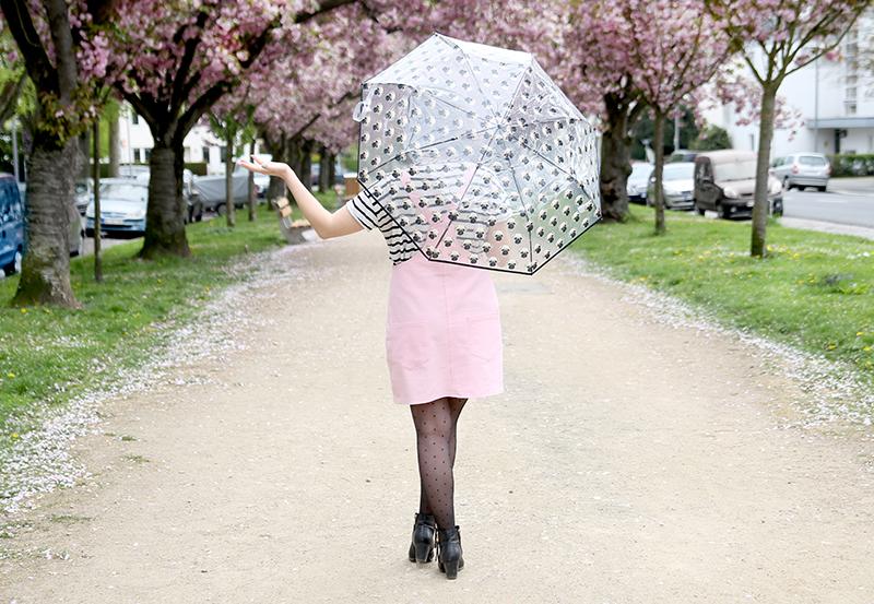 Latz-Kleid selbst nähen in rosa aus Jeansstoff