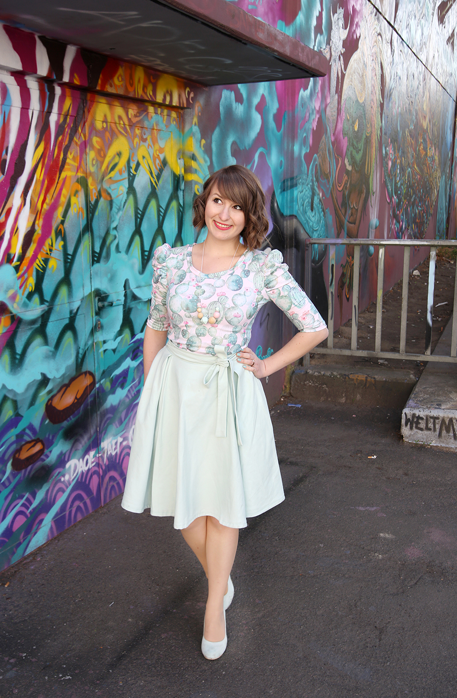 DIY Outfit} Agnes-Top mit Kaktus-Muster | mein feenstaub