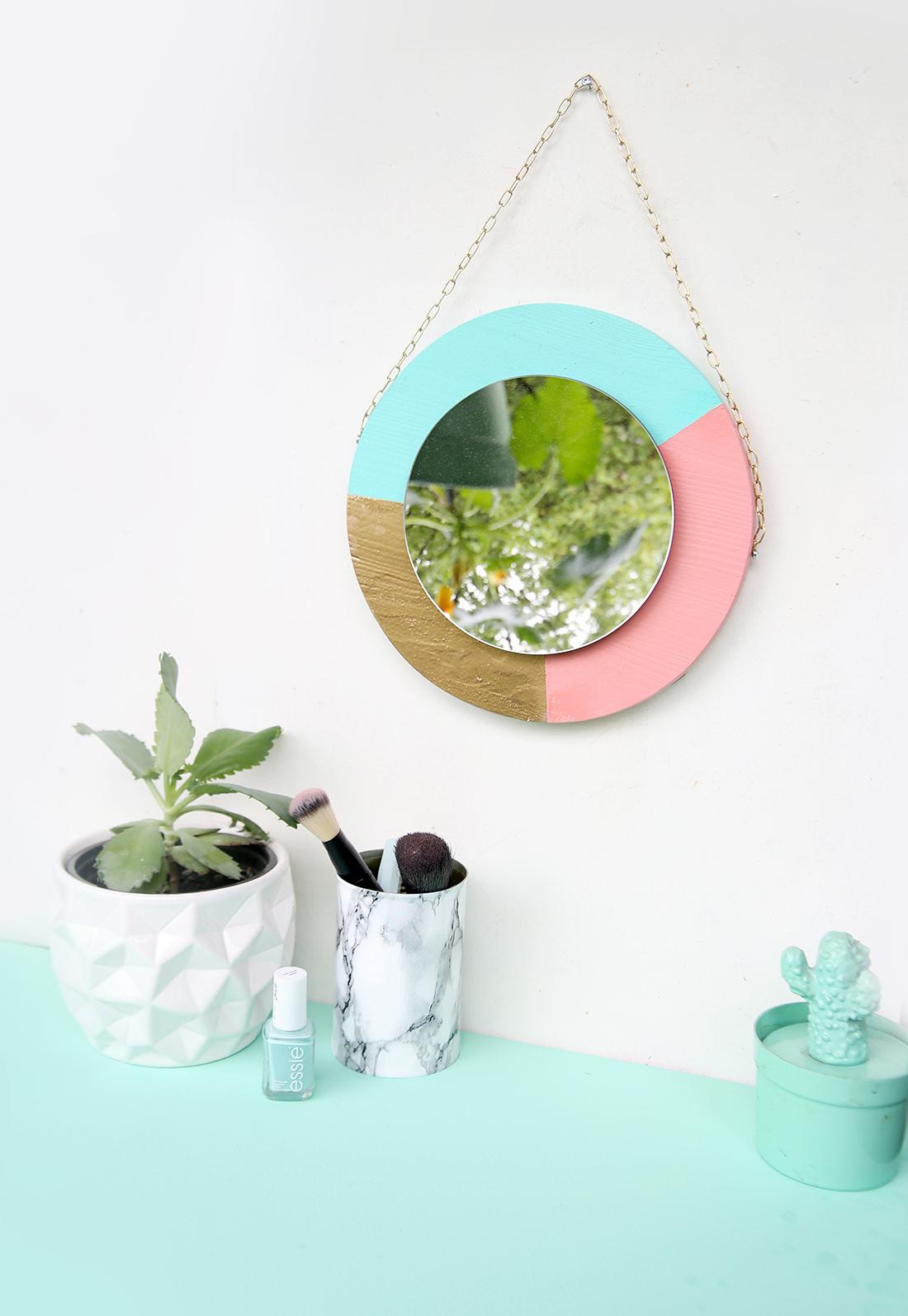 Diy Hübscher Spiegel Aus Holz In Bonbonfarben Mein Feenstaub