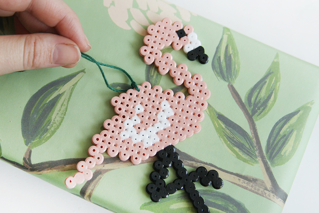 DIY Flamingo aus Hama-Bügelperlen selbermachen