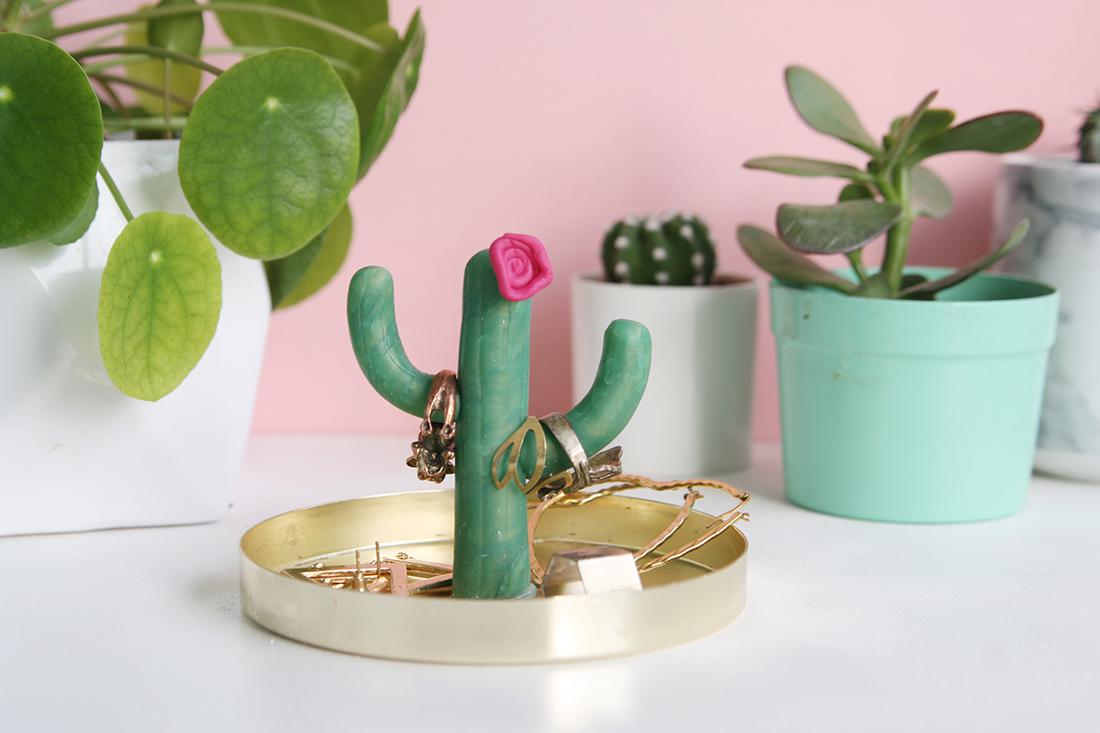 DIY-Kaktus-Ringhalter selbstgemacht