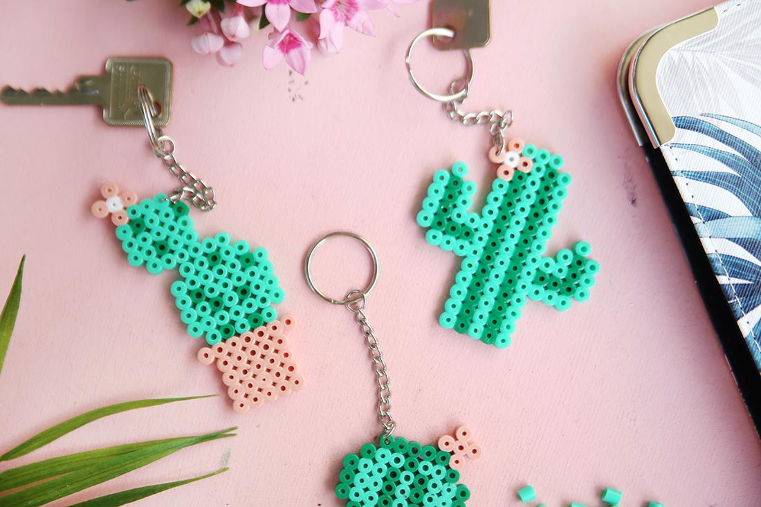 DIY Geschenk: Kaktus-Schlüsselanhänger mit Hama Bügelperlen