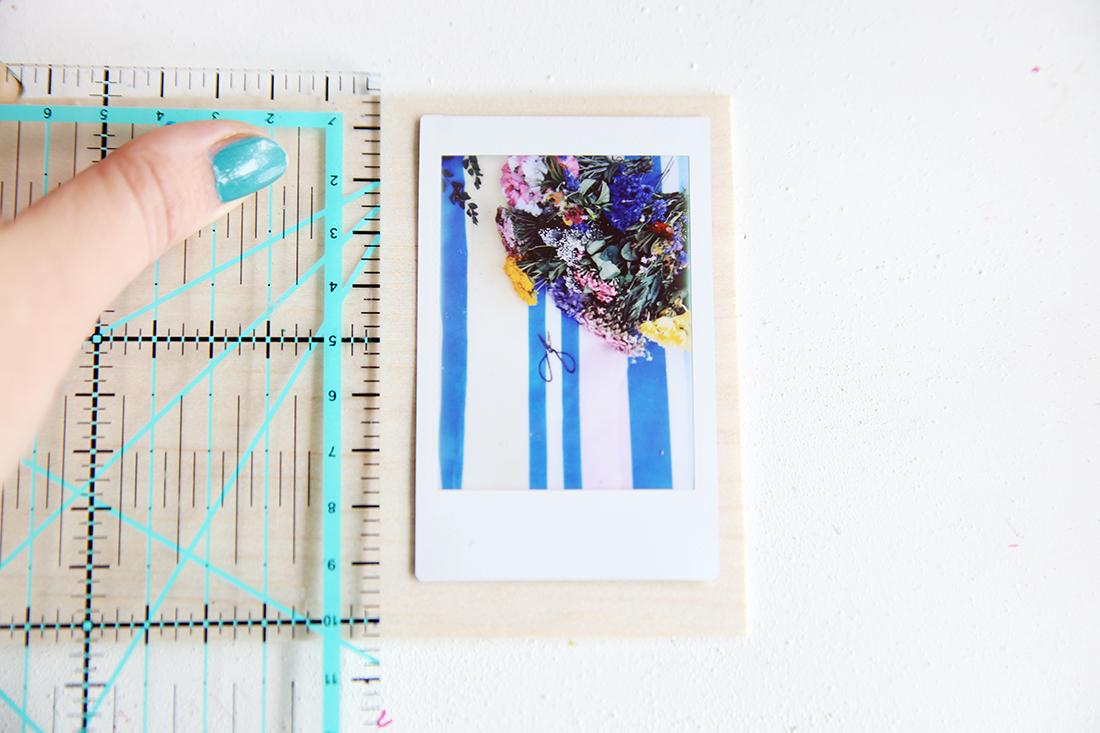 DIY-Rahmen aus Balsaholz für Instax Bilder | mein feenstaub
