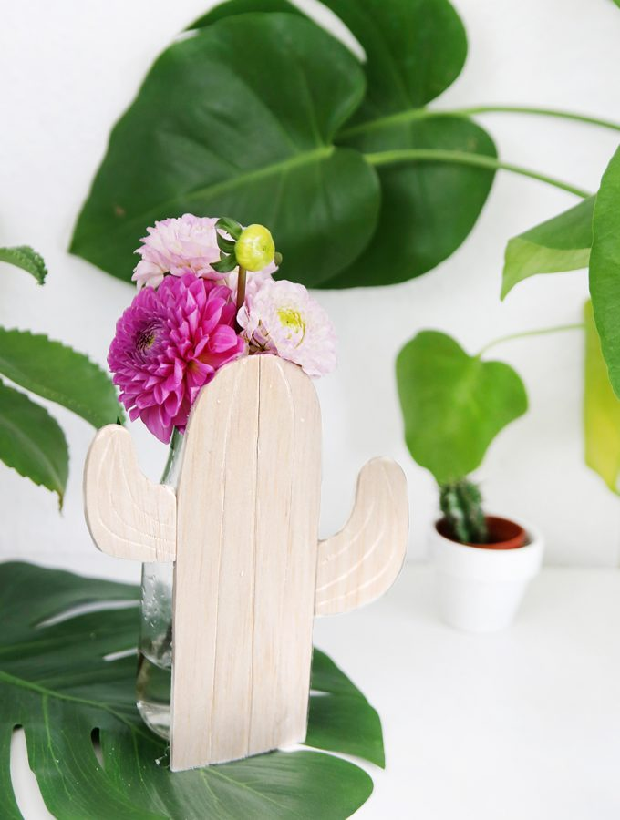 DIY: Kaktus-Vase aus Balsaholz | mit Vorlage