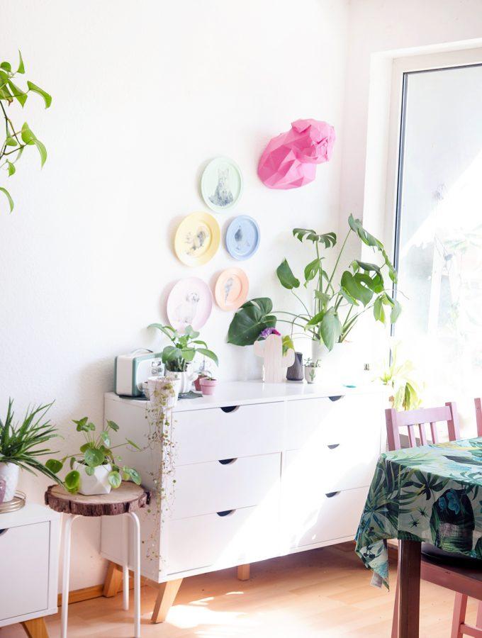 Wohnzimmer Umstyling mit viel DIY Deko