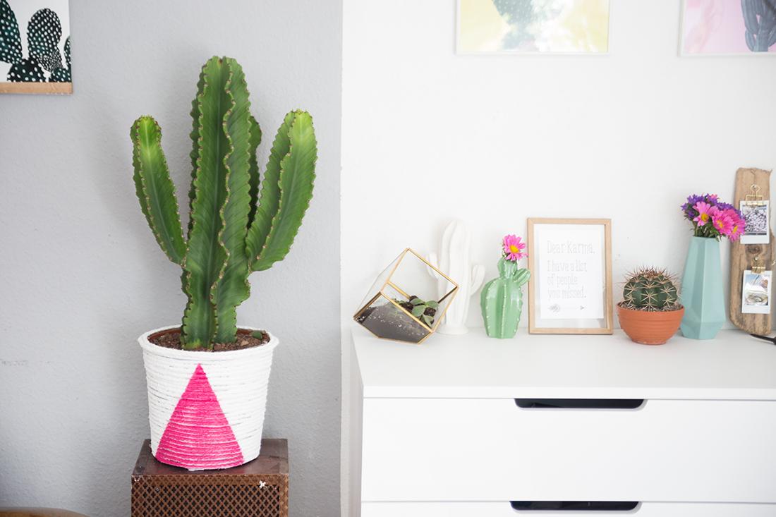 diy boho pflanztopf aus einem seil basteln mein feenstaub. Black Bedroom Furniture Sets. Home Design Ideas