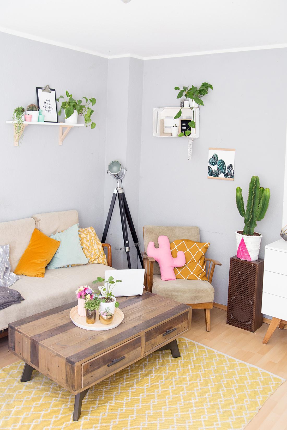 wohnzimmer gestalten do it yourself : Wohnzimmer Umstyling Mit Viel Diy Deko Mein Feenstaub