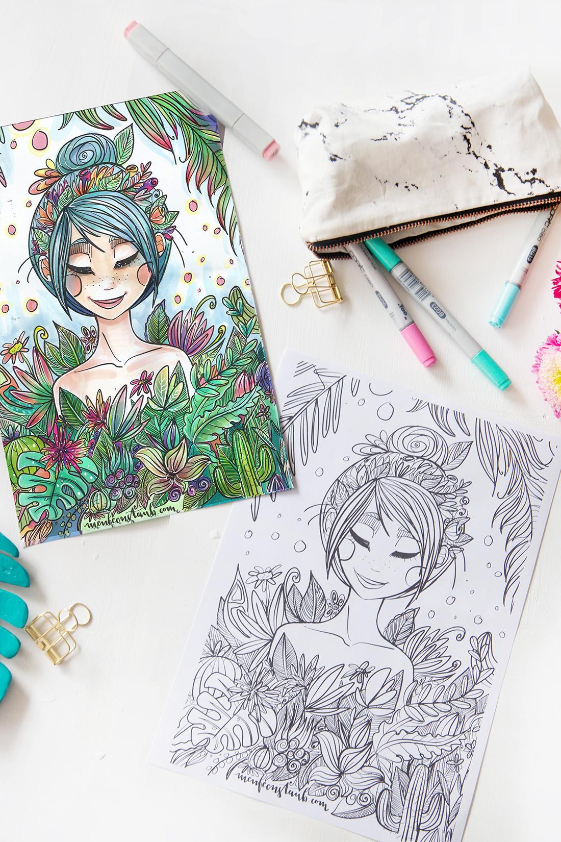 Malen & Zeichnen: Kreatives Ausmalbild für euch | mit Malvorlage ...