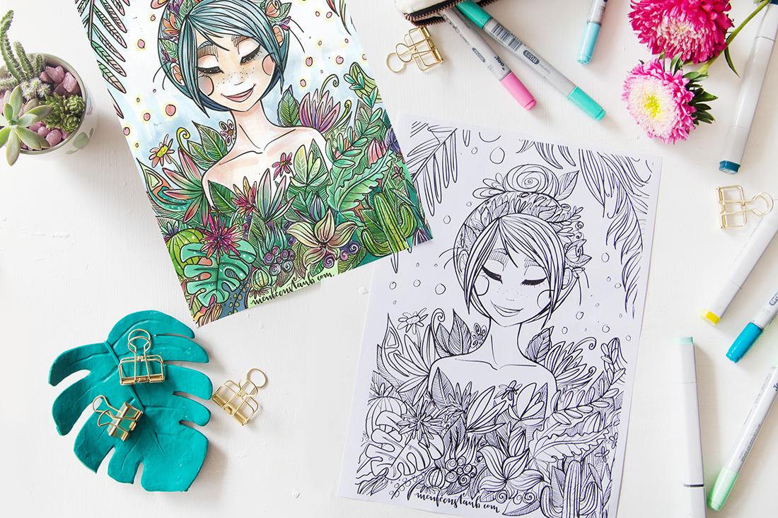zeichnenmalenausmalbildererwachsenediyblog 16