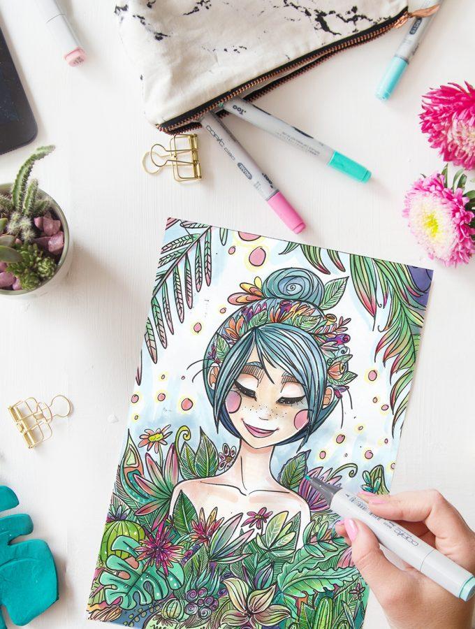 Malen & Zeichnen: Kreatives Ausmalbild für euch | mit Malvorlage