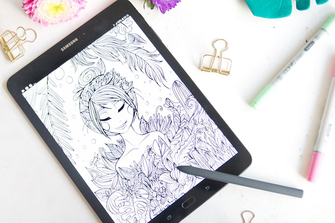 Malen & Zeichnen: Kreatives Ausmalbild für euch  mit Malvorlage