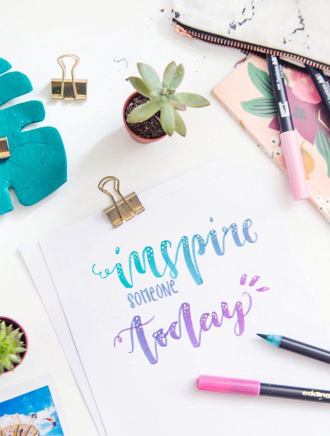 Lettering: 3 Blending-Techniken für tolle Farbverläufe