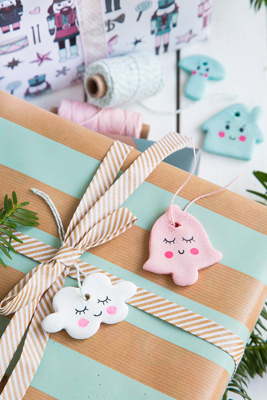 Beliebt Anhänger für Weihnachtsbaum und Geschenke aus Salzteig selber RB95