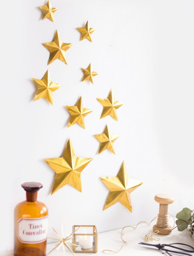 DIY Sternendeko aus Prägefolie | Create yourself a merry little Christmas