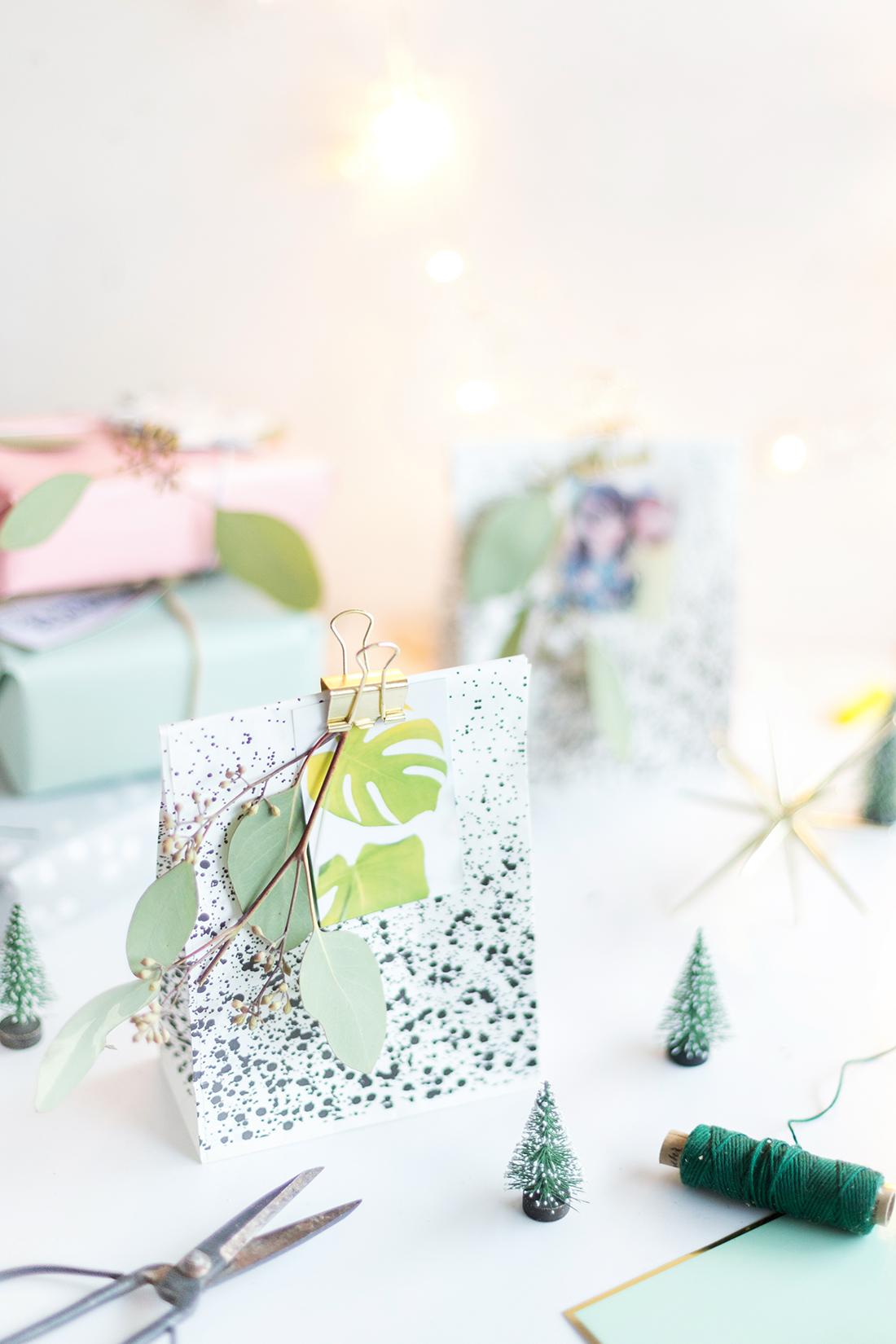 Geschenke mit ausgedruckten fotos