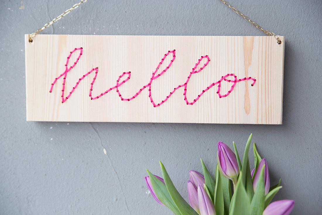 Turbo DIY: Lettering-Schild mit Stick-Schrift | mein feenstaub ZY15